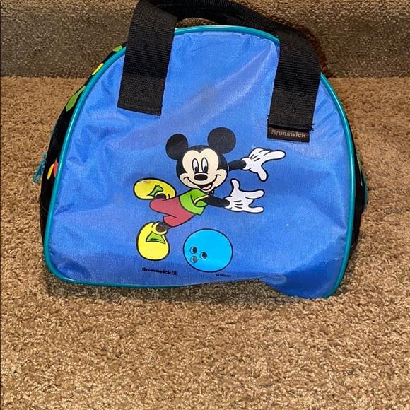 Vintage Blue Bowling Ball Bag